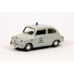 1968 SEAT 600D (Fiat) – POLICIE Barcelona – Solido 1/43