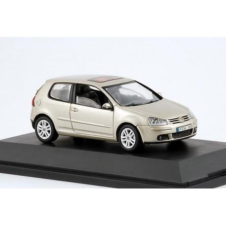 2008 Volkswagen Golf V Champagner – Schuco, zlatavá metalíza – 1/43