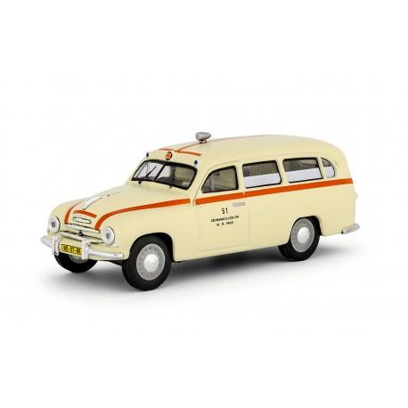 1956 Škoda 1201 − sanitka / záchranka − 1:43