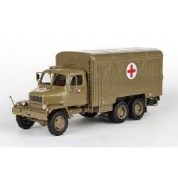 1967 Praga V3S Skříňový vůz, POP (Pojízdná ošetřovna) − ČSLA i Armáda ČR − ABREX 1:43 − POŠTOVNÉ ZDARMA