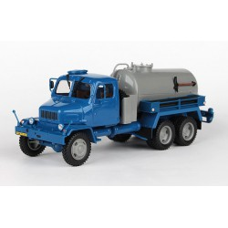 "1967 Praga V3S Fekální vůz, tzv. ""hovnocuc"" − modrý / šedý − ABREX 1:43"