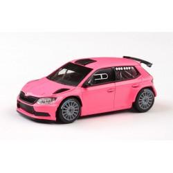 2018 Škoda Fabia III R5 − Prodejní tovární verze, růžová matná − ABREX 1:43