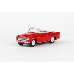 1963 Škoda Felicia Super − červená tmavá − ABREX 1:72